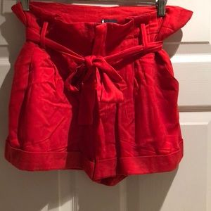 Sparkle & Fade Shorts - Red Dress Shorts